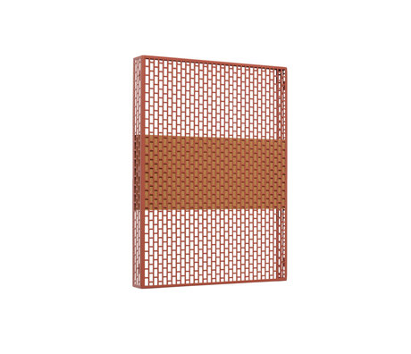 HAY Wandplatte Pinorama S Terrakottastahl 37x50cm