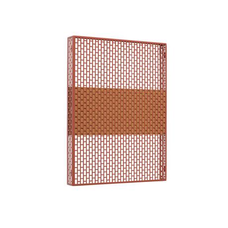HAY Wall plate Pinorama S terracotta steel 37x50cm