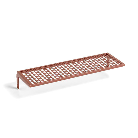 HAY Wall shelf Pinorama S terracotta steel 35x12.5cm