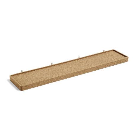 HAY Wall shelf Pinorama L brown cork 67.5x14cm