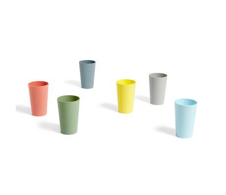 HAY Trinkbecher Paquet mehrfarbiger Kunststoffsatz von 6 Ø7,5x11cm