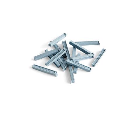 HAY Pinza freschezza Paquet acciaio blu plastica set di 18 11 cm