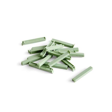HAY Frischeklemme Paquet grüner Kunststoffsatz von 18 11 cm