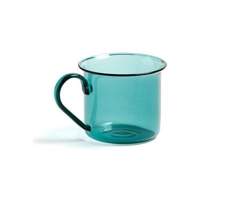 HAY Taza de borosilicato 200ml vidrio verde agua Ø8x6.5cm