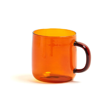 HAY Cup of Borosilicate 300ml terracotta glass Ø8x8.5cm