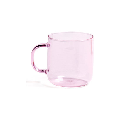 HAY Cup of Borosilicate 300ml pink glass Ø8x8.5cm