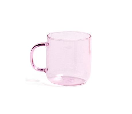 HAY Tasse de Borosilicate 300ml verre rose Ø8x8.5cm