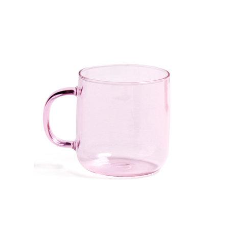 HAY Tazza di Borosilicato 300ml vetro rosa Ø8x8,5cm