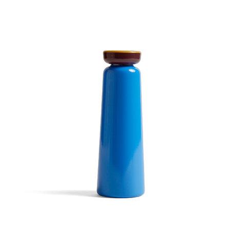 HAY Bottiglia Sowden 0,35L blu acciaio inossidabile Ø7x20,5cm