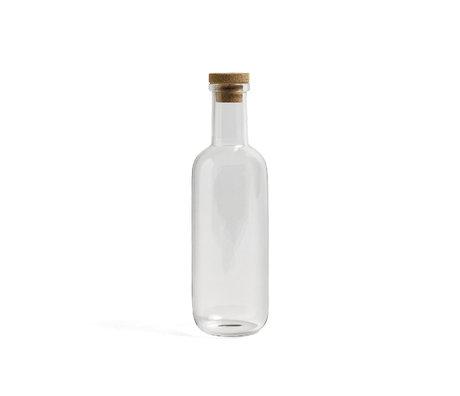 HAY Botella Botella S 0,75L vidrio transparente Ø8x27cm