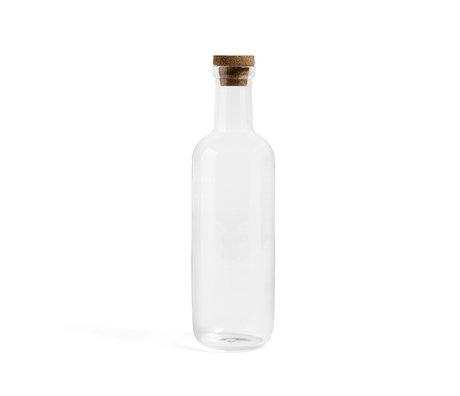HAY Bottiglia Bottiglia L 1,5L vetro trasparente Ø10,5x34cm