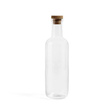 HAY Bottle Bottle L 1.5L transparent glass Ø10.5x34cm