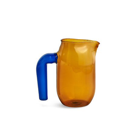 HAY Pichet S 950ml verre bleu terre cuite Ø10x16.5cm