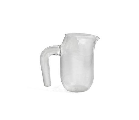 HAY Jug S 950ml transparent glass Ø10x16.5cm