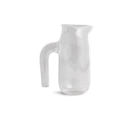 HAY Jug L 1200ml transparent glass Ø10x20.5cm