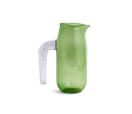 HAY Cruche L 1200ml verre vert Ø10x20.5cm