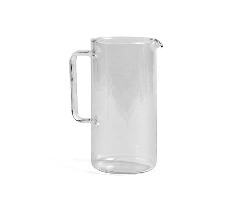 HAY Jug Glass L 2L transparent glass Ø12x23.5cm