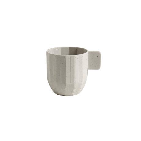 HAY Espressotasse Papier Porzellan 150ml hellgraue Keramik Ø5,5x6cm