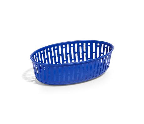 HAY Basket Panier dark blue steel 25x16x7.5cm
