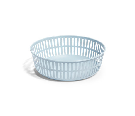 HAY Panier Panier acier bleu clair Ø22,5x7,5cm