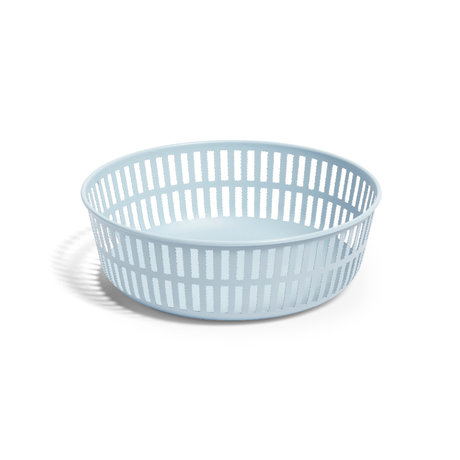 HAY Cestino Panier in acciaio azzurro Ø22,5x7,5cm