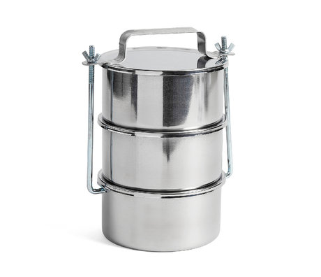 HAY Storage tin Picnic Container L set of 3 silver stainless steel Ø18x29.5cm