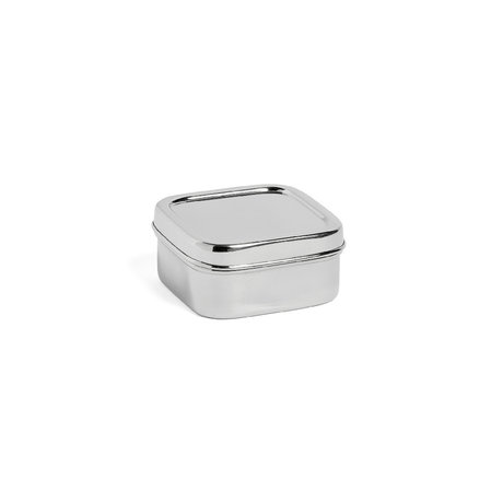 HAY Lunchbox Square XS silver stainless steel 10x10x5cm