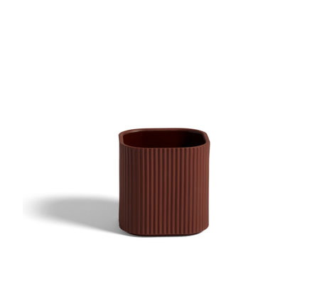 HAY Vaso Facciata S terracotta terracotta 11x11x11cm