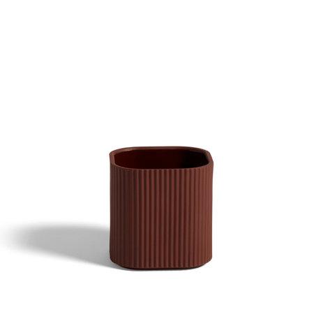 HAY Pot Facade S terracotta earthenware 11x11x11cm