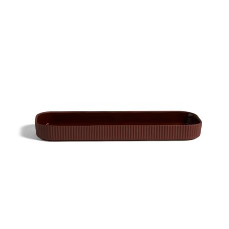 HAY Tray Facade terracotta earthenware 11x33.5x3.5cm