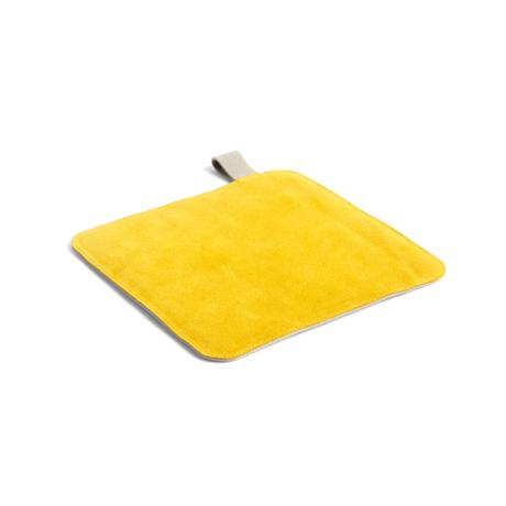 HAY Manique Pot textile jaune 21,5x21,5cm