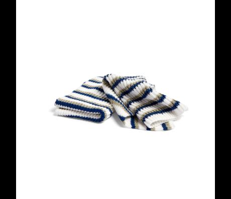 HAY Linge à vaisselle Tricolore Dusty coton bleu foncé lot de 2 30x22cm