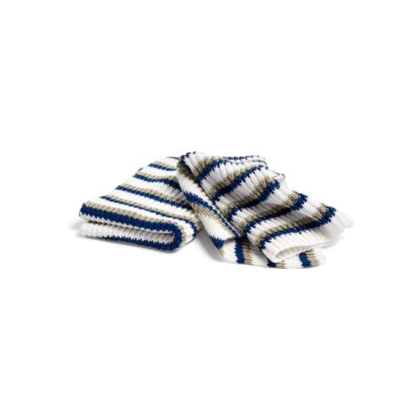HAY Geschirrtuch Tricolore Dusty dunkelblaue Baumwolle 2er Set 30x22cm