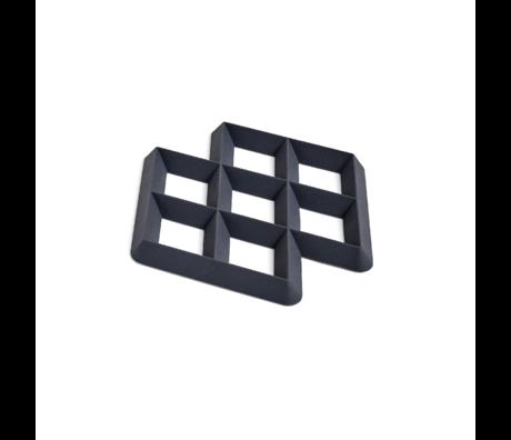 HAY Untersetzer Rhom Trivet schwarzes Silikon 17x17x1,5cm
