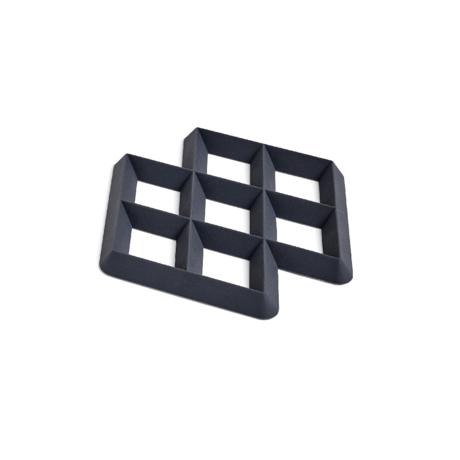 HAY Sottobicchiere Rhom in silicone nero 17x17x1,5cm