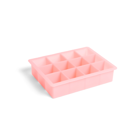 HAY Ice cube mold Square 12 Cubes pink silicone 18x14x4cm