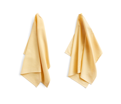 HAY Tea towel Check light yellow cotton set of 2 75x52cm