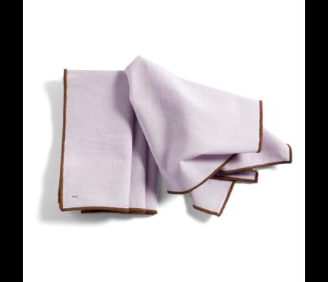 HAY Juego de 4 manteles individuales Contour lila de algodón 46x34cm