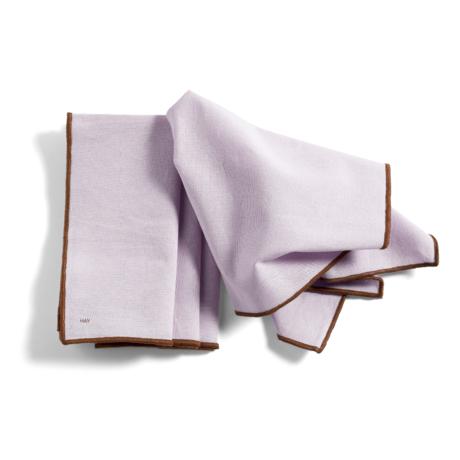 HAY Tischset Contour lila Baumwolle Set von 4 46x34cm