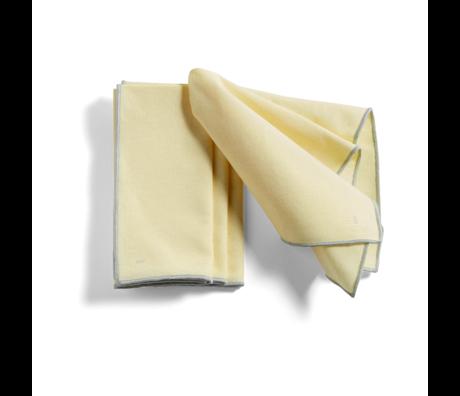 HAY Mantel individual Contour algodón amarillo claro juego de 4 46x34cm