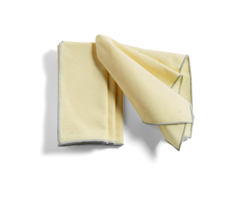 HAY Set di 4 tovagliette Contour in cotone giallo chiaro 46x34cm