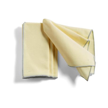 HAY Placemat Contour light yellow cotton set of 4 46x34cm