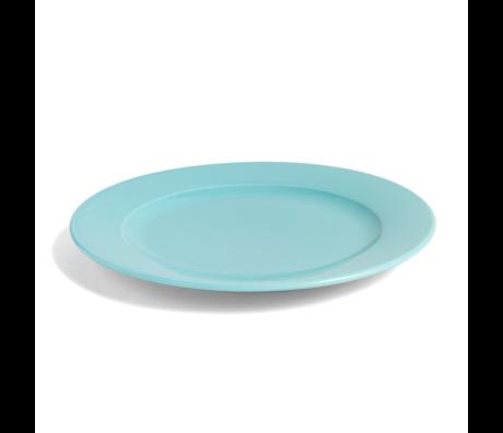 HAY Plate Rainbow M aqua green porcelain Ø24cm