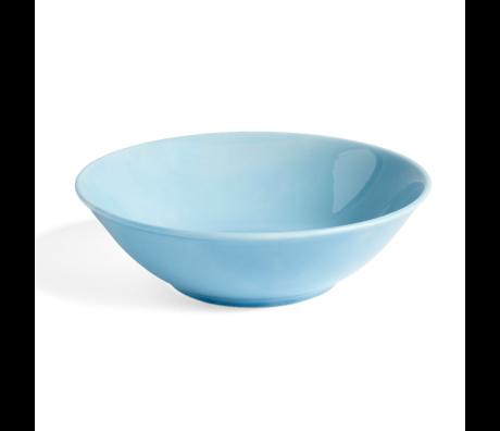 HAY Bol Rainbow L porcelaine bleu clair Ø23x6,5cm