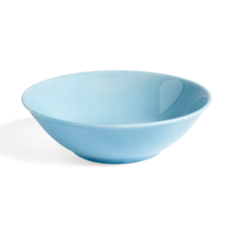 HAY Bowl Rainbow L light blue porcelain Ø23x6.5cm