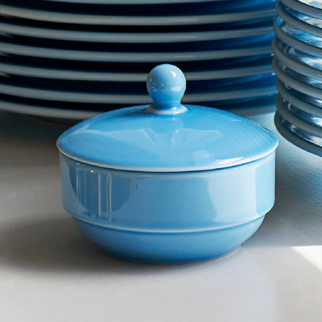 HAY Sucrier Rainbow porcelaine bleu clair Ø10x8,5cm
