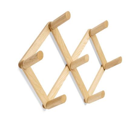 HAY Appendiabiti Appendiabiti in legno marrone 55x10x41cm