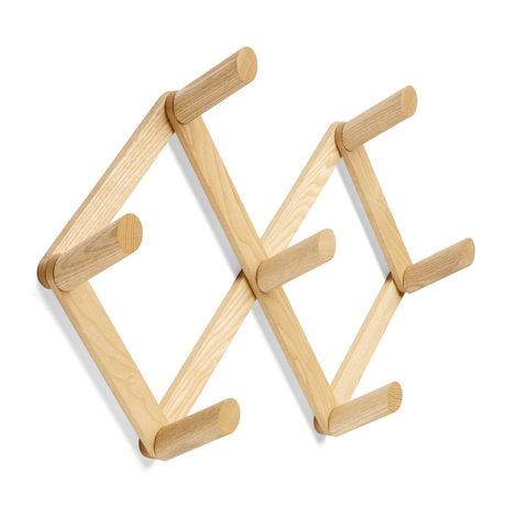 HAY Coat rack Coat Rack brown wood 55x10x41cm