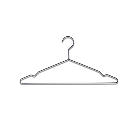 HAY Clothes hanger Hang black steel set of 5 42x20cm