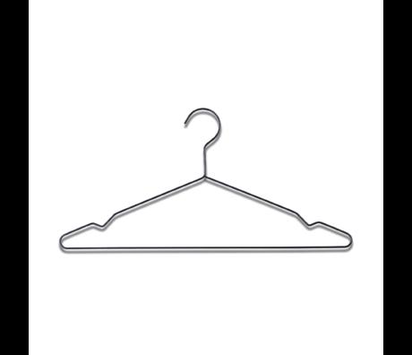HAY Kleiderbügel Aufhängen aus schwarzem Stahl, 5 x 42 x 20 cm